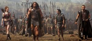 Tiens, le plan iconique des héros marchant devant l'armée.