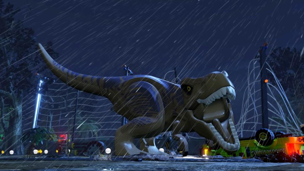 On va revoir notre copain le t-rex par contre ! Et euh, là c'est le lego, hein, rassurez-vous... ^^